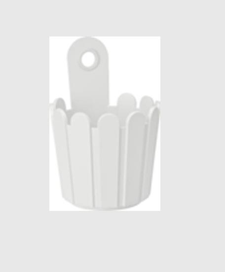 Landhaus Vase White Modagri Tech - Γλάστρες Emsa